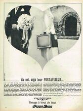 A- Publicité Advertising 1966 Le Televiseur Portaviseur Portatif Pizon Bros