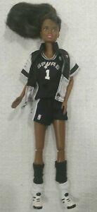 1998 NBA San Antonio SPURS Spurs Barbie Mattel African American Articulated