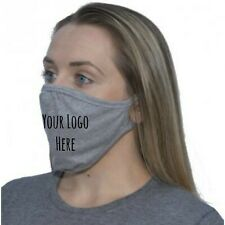 Personalised custom face mask, business logo face covering, reuseable