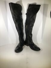 FRYE Shirley Over The Knee Womens Size Black Leather Boots FB-176