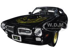 1973 PONTIAC FIREBIRD TRANS AM BLACK W/ GOLD WHEELS 1/24 BY MOTORMAX 73243