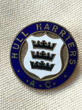 Hull Harriers Athletic Club East Yorkshire vintage badge old buttonhole style