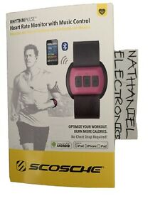 Scosche RhythmPulse Heart Rate Monitor with Music Control RTHMA1.5 Red NIB CHEA