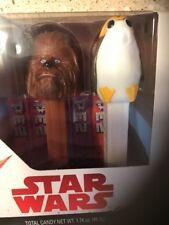 Star Wars Pez Dispensers 2pk Chewbacca & Porg New In Sealed Box!