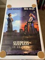 "SLEEPLESS IN SEATTLE Original Movie Poster 27""X40"" DS/Rolled - 1993 - HANKS/RYAN"