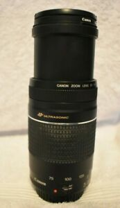 Canon Ultrasonic EF 75-300 mm  f4-5.6 III Zoom USM Lens & Canon 58mm UV Haze Len