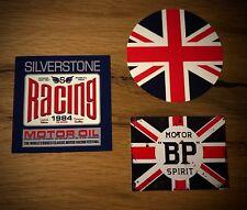 3x UK Racing Aufkleber Cafe Racer England Mini MPI SPI 1300 Oldtimer Rally Set 7