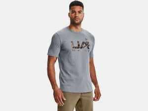 Under Armour Mens UA Antler Hunt Icon Short Sleeve Graphic T-Shirt SS Camo Tee