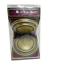 Pair Levolor Wilshire Round Medallion Drapery Curtain Holdbacks Brushed Bronze
