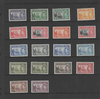 ST. HELENA 1938-44 KGVI  SET OF 18 (SG153-165) VLMM/MNH