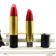 16 Go Mini Clé Clef USB Mémoire Flash U Disque / Rouge à Lèvres Rouge