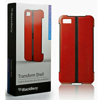 COVER CASE ORIGINALE PER BLACKBERRY Z10 3G 4G LTE + PELLICOLA DISPLAY ROSSO NERO