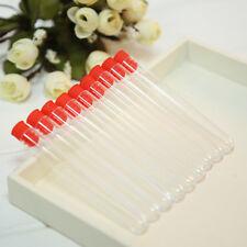 Reagenzgläser.Test Tube Reagenzglas Kunststoff12x100mm Klar lastik/Fläschen10 Dd