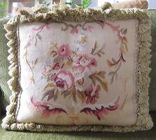 """18"""" Tapestry Pillow with Velvet Back and Tassel trim"""