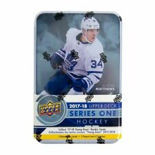2017-18 Upper Deck Series 1 NHL Hockey Trading Cards 12pk Tin