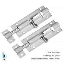 3/4/5/6/8 Inch Long Silver Stainless Steel Door Latch Lock Bolt Gate Safety Lock