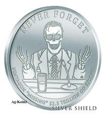 1 oz 2018 Missing Trillions BU - Never Forget #7 Silver Shield Pentagon 999 AG
