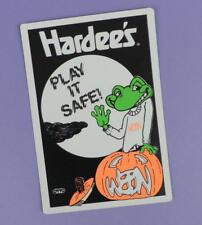 Hardee's & WEBN Radio Station Glow in the Dark Unused Halloween Sticker