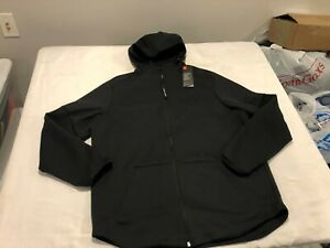 NWT $85.00 Under Armour Mens Unstoppable Move Light Full Zip Hoodie Black Sz XL