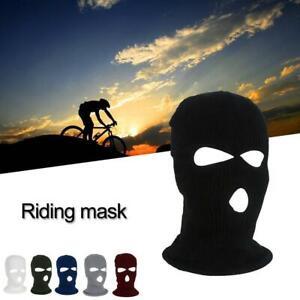 3 Hole Full  Face Mask Winter Ski Cap Balaclava Beanie Tactical  Warm Hat