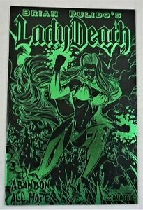 LADY DEATH ABANDON ALL HOPE #1/2 Leather Green Foil NM