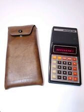 Vintage Litronix 1760 Red LED Calculator Working with Case