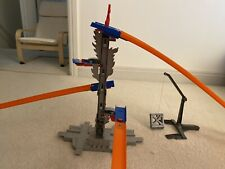 Used Hot Wheels Workshop Track Builder 5-Lane Tower Starter Set