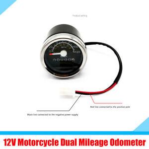 Digital Dual Mileage Speedometer Odometer Blue Backlight Gauge For Motorcycle