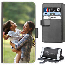 Personalised Photo Phone Case, PU Leather Flip Cover For Apple/Samsung/Sony