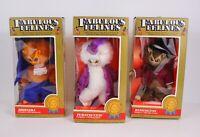 Vintage 1983 Phoenix Toys Fabulous Felines Plush Cats Set of 3 in OG Boxes RARE