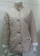 NEW Kirsten City Sport Ladies Quilted Jacket, Cream UK 12