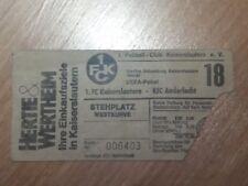 TICKET VOOR VERZAMELAARS: 1.FC KAISERSLAUTERN - ANDERLECHT UEFA CUP 1980/81