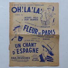 Partition Oh! La la ! Fleur de Paris BORDAS MAURICE CHEVALIER JAIME PLANA