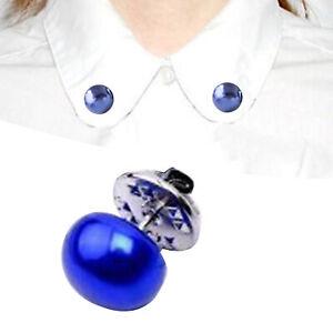 Frauen Faux Pearl Brosche Pin Kragen Schnalle Kleidung Clip Shirt Pullover Dekor