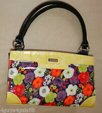 Miche Classic Purse SHELL ONLY Fits Classic Bag SABRINA Retro Flower Yellow Trim