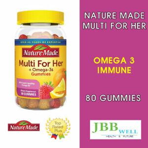 Nature Made Women's Multivitamin,Omega-3 Gummies 80 Gummies Exp.01/22