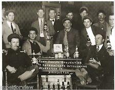Vintage Beer Drinking Lumberjacks Anti Prohibition Joke Beer Bottles Drinkers