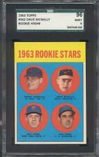 1963 Topps #562 Dave McNally Rookie SGC 96 = 9
