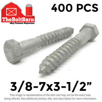 20 PCS 5//16-9X5 Hex Lag Bolts Wood Screws ASTM A307 Grade A Steel Galvanized