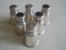 International Sterling Silver 6 Salt & Pepper Shakers