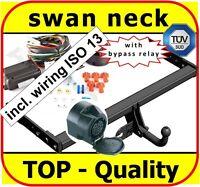 Towbar & Electrics ISO 13pin VW Tiguan SUV 2007-2015 | swan neck Tow Bar