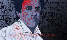 Original American Psycho Art Print Poster Patrick Bateman Christian Bale Blu Ray