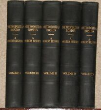 Metropolitan Boston Massachusetts MA history genealogy leather first 5 volume