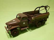 SOLIDO MILITARY GMC M5 HALF TRUCK USA - ARMY GREEN 1:50 - GOOD CONDITION