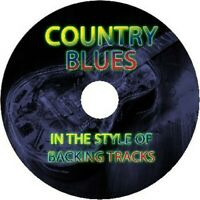 IN THE STYLE OF COUNTRY BLUES GUITAR BACKING TRACKS CD BEST GREATEST HITS MUSIC