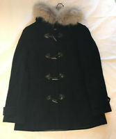 Marc New York Andrew Marc Womens Real Fur Trim  Jacket Black Orig.$580 Size 10