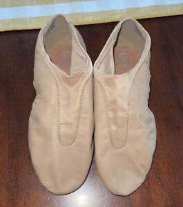 Women's Jazz Shoes Tan Bloch Slip-On Split Sole Sz 9