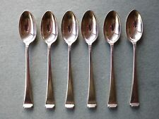 6 Solid Silver Coffee Spoons Art Deco - Mappin & Webb Sheffield 1936 - 93 grams