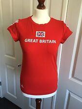 """Señoras Rojo Adidas Equipo Gb Olimpiadas 2012 """"gran Bretaña Top, talla 8, Totalmente Nuevo"""