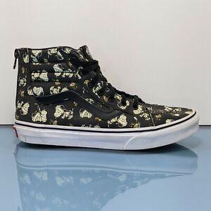 VANS Sk8 Hi Peanuts Snoopy Glow Mummies Kids Youth Size 5.5 Womens 7 Shoes